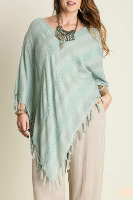 Umgee USA Asymmetrical Fringe Top