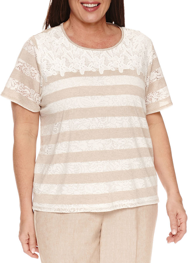 Alfred Dunner Alfred Dunner Short Sleeve Crew Neck T-Shirt-Plus