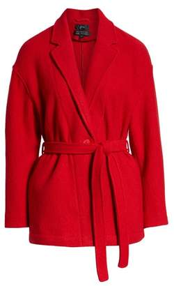 J.Crew Camille Short Boiled Wool Wrap Coat