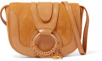 See by Chloe Hana Small Patent-leather And Suede Shoulder Bag - Marigold