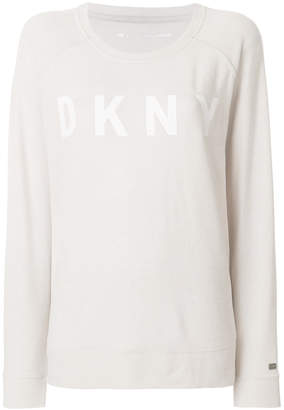 Donna Karan logo sweater