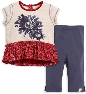 7d7239af56bf6 Burt's Bees Indigo Daisy Organic Baby Girl Tee & Capri Legging Set