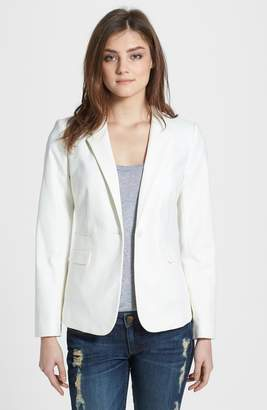 Vince Camuto Stretch Cotton One-Button Blazer