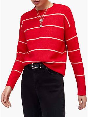 Fine Knit Cosy Jumper, Bright Red