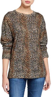 Equipment Raydon Cheetah-Print Wool Sweater