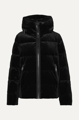 Goldbergh - Emmelina Hooded Quilted Velvet Down Ski Jacket - Black