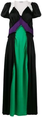 ATTICO Carlotta colour-block maxi dress