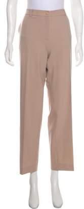 Giorgio Armani High-Rise Straight-Leg Pants Champagne High-Rise Straight-Leg Pants