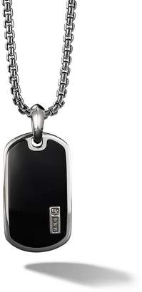 David Yurman Exotic Stone black onyx Tag Enhancer
