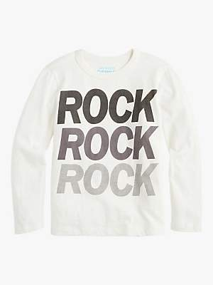 J.Crew crewcuts by Boys' Rock T-Shirt, White