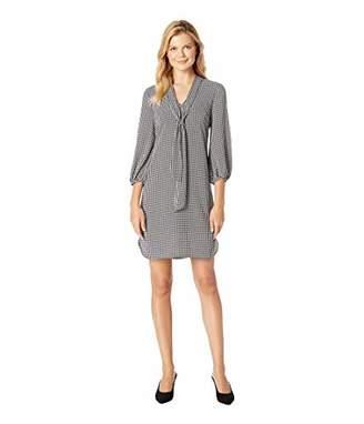 Adrianna Papell Women's Long Sleeve Pebble Stretch Chiffon Sheath Dress