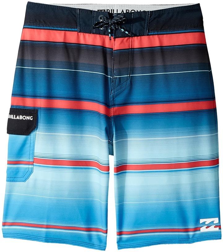 Billabong Kids - All Day X Stripe Boardshorts Boy's Swimwear