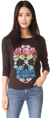 Chaser Floral Skull Long Sleeve $69 thestylecure.com