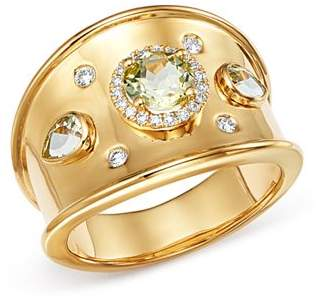 Kiki McDonough 18K Yellow Gold Jemima Lemon Quartz & Diamond Ring