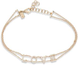Ef Collection Love Diamond Bracelet