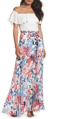 8e71c03c44fc Eliza J Off the Shoulder Floral Maxi Dress