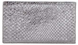 Nancy Gonzalez Snakeskin Box Clutch