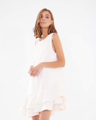 Melina Frill-Hem Dress