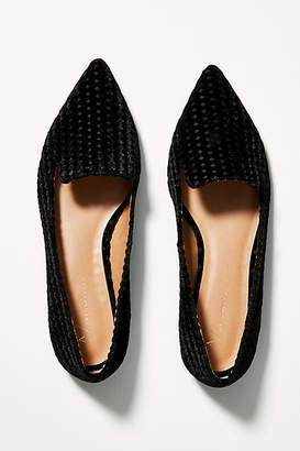 Anthropologie Velvet Loafers