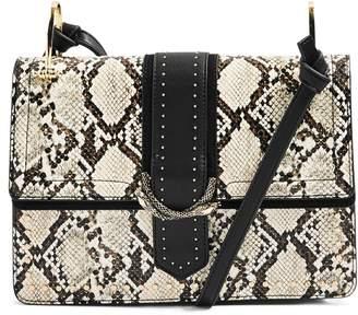 Topshop Suri Snake Effect Shoulder Bag