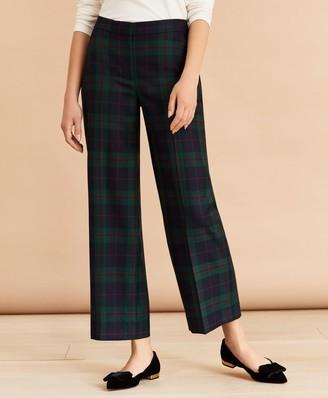 Brooks Brothers Tartan Cropped Wide-Leg Pants