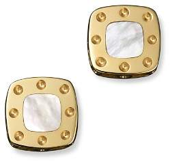 Roberto Coin 18K Yellow Gold Mini Pois Moi Mother-of-Pearl Square Stud Earrings