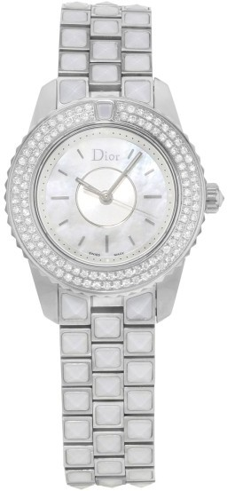 Christian Dior  Christian Dior Christal CD112118M003 Stainless Steel & Diamonds Quartz 28mm Womens Watch