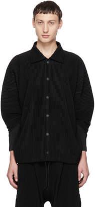 Issey Miyake Homme Plisse Black Button-Down Jacket