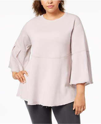 Calvin Klein Plus Size Bell-Sleeve Tunic