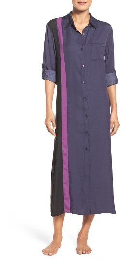DKNY Women's Dkny Satin Maxi Nightgown