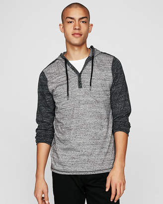 Express Burnout Jersey Hooded Henley