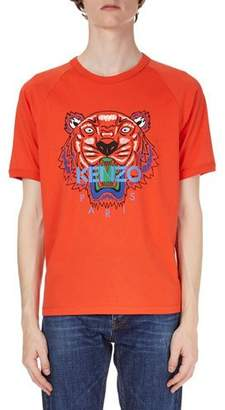 Kenzo Logo Tiger-Graphic Short-Sleeve T-Shirt