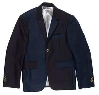 Thom Browne Paneled Linen Blazer