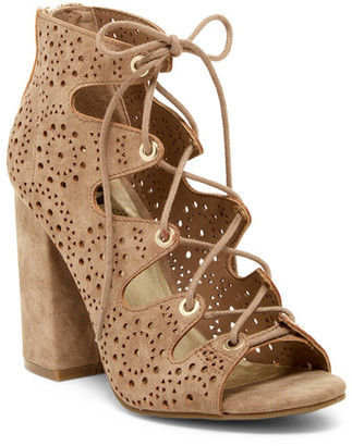 G by GUESS Invent Laser-Cut Sandal $79 thestylecure.com