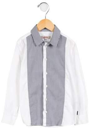 Junior Gaultier Boys' Striped Button-Up Shirt