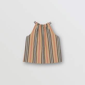 Burberry Icon Stripe Cotton Halterneck Top