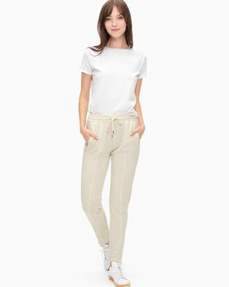 Splendid Colorblock Velour Step Hem Track Pant