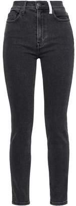 Current/Elliott Kett Two-tone High-rise Skinny Jeans