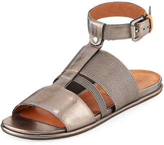 Gentle Souls Ophelia Easy Flat Sandal with Stretch Strap