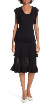 Rebecca Taylor Tiered Cotton Wool Dress