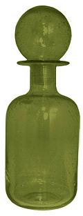"""11"""" Glass Bottle, Green"""