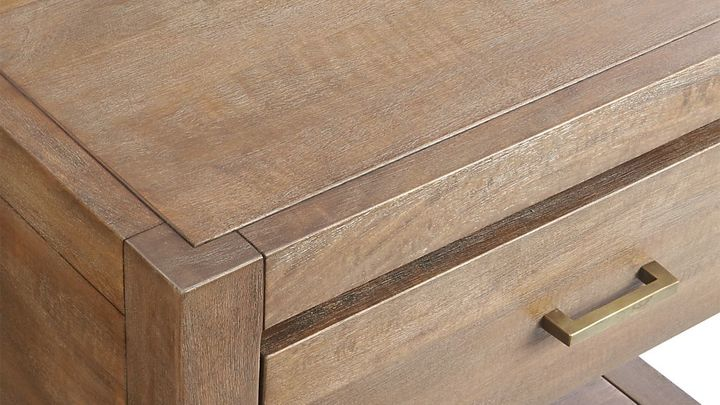 Crate & Barrel Dawson Grey Wash Nightstand