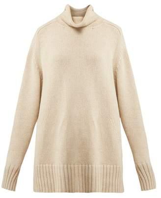 Joseph Sloppy Joe Cotton Blend Sweater - Womens - Beige