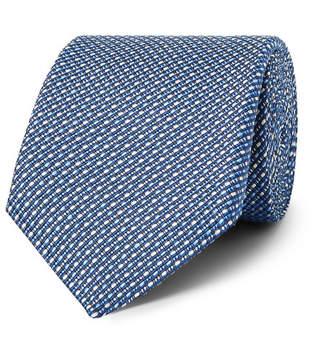 Etro 8cm Woven Silk And Linen Tie