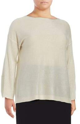 Vince Camuto Plus Long Sleeve Top