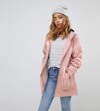 Asos Design Petite Summer Parka With Jersey Lining