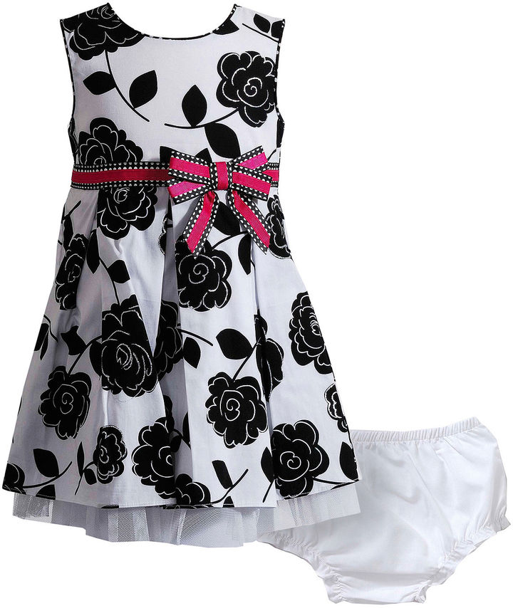 Young Land Youngland Floral Dress and Diaper Cover - Girls 3m-24m