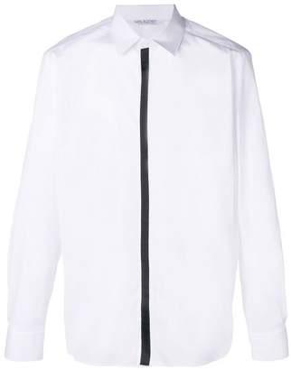 Neil Barrett contrast placket shirt