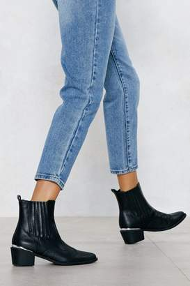 Nasty Gal I Love Croc 'N Roll Faux Leather Boot