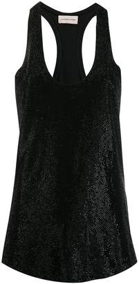 Alexandre Vauthier perforated tank top